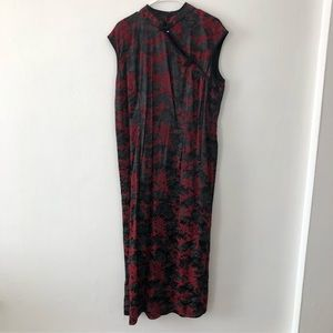 Torrid | Floral Long Chinese Party Dress Cheongsam